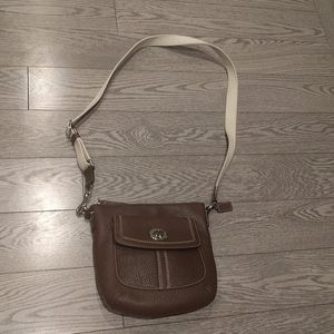 Beautiful genuine leather bag by Coach 🌸
